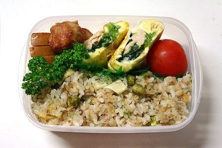 筍ご飯の炒飯弁当