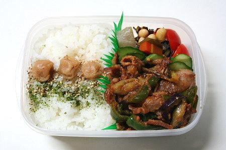 豚肉とおナスのピリ辛炒め弁当