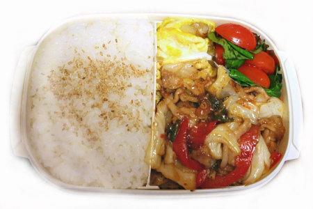 豚肉と野菜の甘味噌炒め弁当