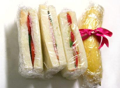 大急ぎのサンドイッチ弁当