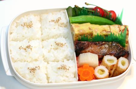 鮭の西京漬けの腹筋弁当