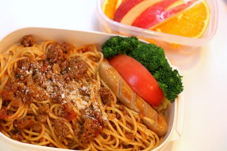 自家製ミートソースのスパゲッティのお弁当